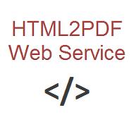 HTML2PDF Web Service